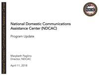 NDCAC Director EAB Briefing