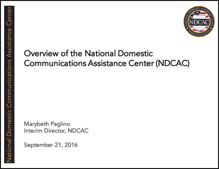 NDCAC Director EAB Brief September 17 2016 Title Slide