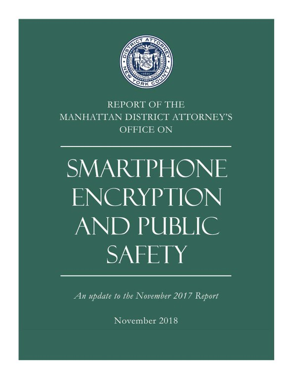 Smartphone Encryption and Public Safety Presentation Main Page