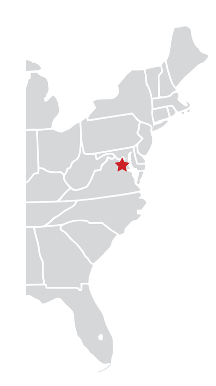 Eastern US with Star Marker